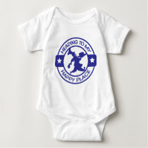 A259 happy place pastry chef blue baby bodysuit
