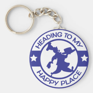 A259 happy place pastry chef blue keychain