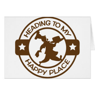 A259 happy place pastry chef brown greeting card