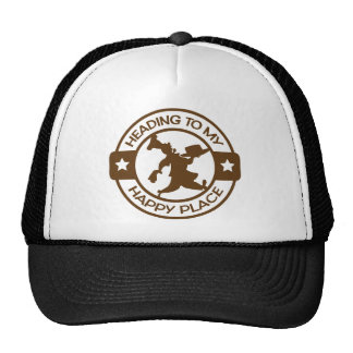 A259 happy place pastry chef brown trucker hats