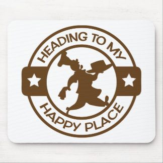 A259 happy place pastry chef brown mouse pad