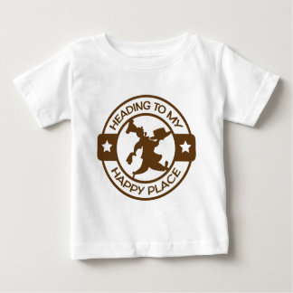 A259 happy place pastry chef brown tee shirt