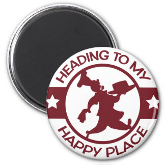 A259 happy place pastry chef burgundy 2 inch round magnet