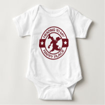 A259 happy place pastry chef burgundy baby bodysuit
