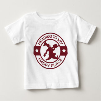 A259 happy place pastry chef burgundy baby T-Shirt