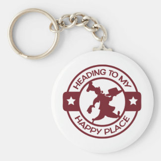 A259 happy place pastry chef burgundy keychain