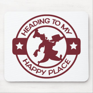 A259 happy place pastry chef burgundy mouse pad