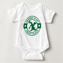 A259 happy place pastry chef dark green baby bodysuit