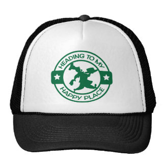 A259 happy place pastry chef dark green hat
