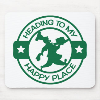 A259 happy place pastry chef dark green mouse pad