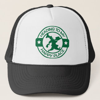 A259 happy place pastry chef dark green trucker hat