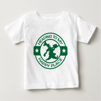 A259 happy place pastry chef dark green tees