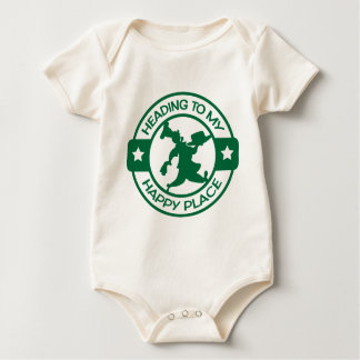 A259 happy place pastry chef dark green bodysuit