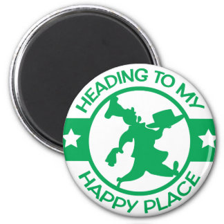 A259 happy place pastry chef green 2 inch round magnet