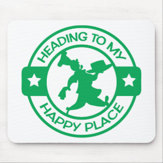A259 happy place pastry chef green mouse pad