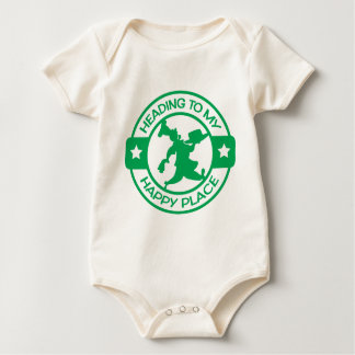 A259 happy place pastry chef green baby bodysuit