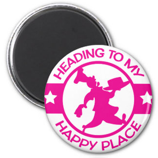 A259 happy place pastry chef hot pink 2 inch round magnet