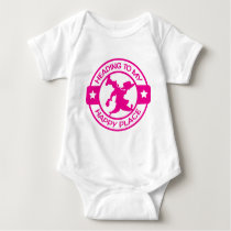 A259 happy place pastry chef hot pink baby bodysuit