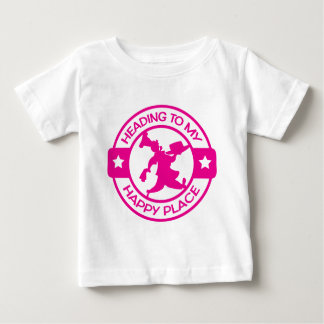 A259 happy place pastry chef hot pink baby T-Shirt