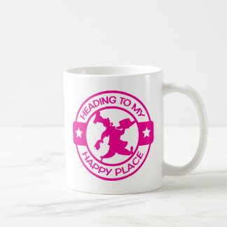 A259 happy place pastry chef hot pink coffee mug