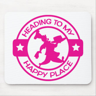 A259 happy place pastry chef hot pink mouse pad