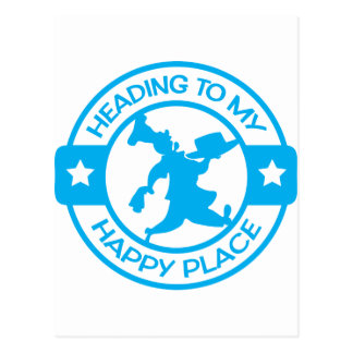 A259 happy place pastry chef light blue postcard