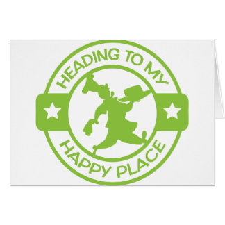 A259 happy place pastry chef lime green greeting card