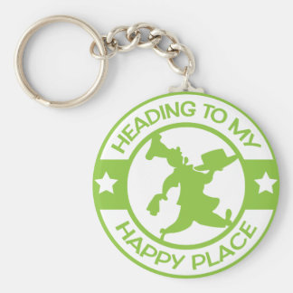 A259 happy place pastry chef lime green keychain