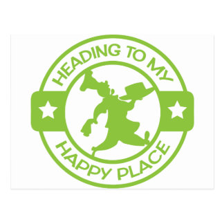A259 happy place pastry chef lime green postcard