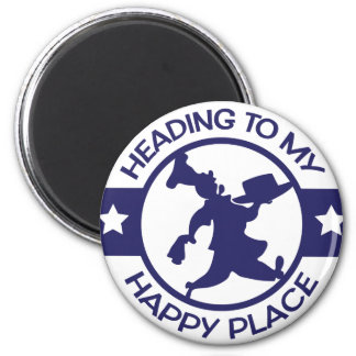 A259 happy place pastry chef navy blue 2 inch round magnet