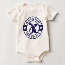 A259 happy place pastry chef navy blue baby bodysuit