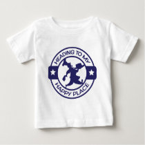 A259 happy place pastry chef navy blue baby T-Shirt