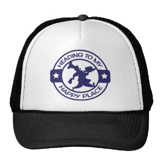A259 happy place pastry chef navy blue trucker hat