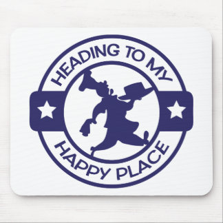 A259 happy place pastry chef navy blue mouse pad