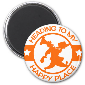 A259 happy place pastry chef orange 2 inch round magnet