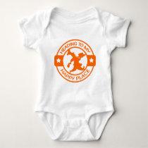 A259 happy place pastry chef orange baby bodysuit