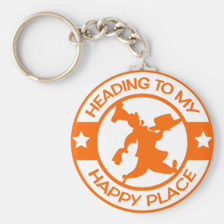 A259 happy place pastry chef orange keychain