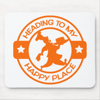A259 happy place pastry chef orange mouse pad