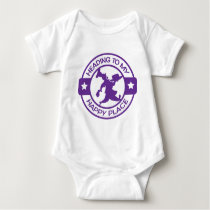 A259 happy place pastry chef purple baby bodysuit