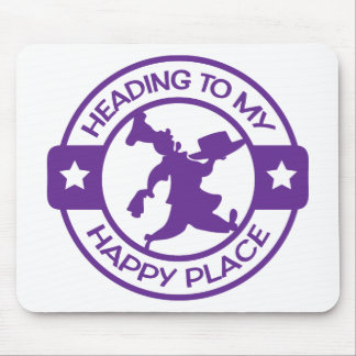 A259 happy place pastry chef purple mouse pad