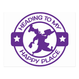 A259 happy place pastry chef purple postcard