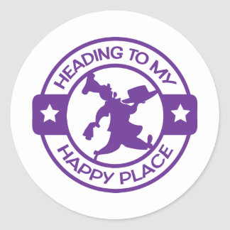 A259 happy place pastry chef purple classic round sticker