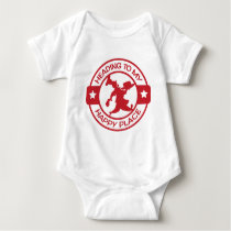 A259 happy place pastry chef red baby bodysuit
