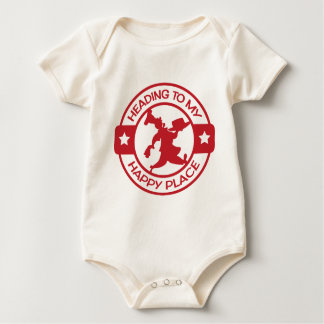 A259 happy place pastry chef red baby bodysuits