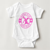 A259 happy place pastry chef soft pink baby bodysuit