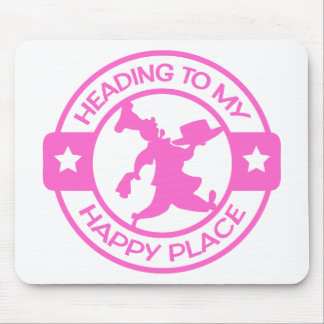 A259 happy place pastry chef soft pink mouse pad