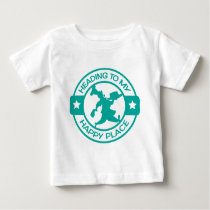 A259 happy place pastry chef teal baby T-Shirt