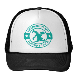 A259 happy place pastry chef teal trucker hat