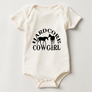 A262 hardcore cowgirl black baby bodysuit