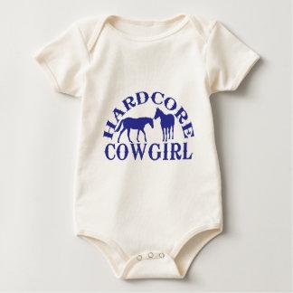 A262 hardcore cowgirl blue baby bodysuit